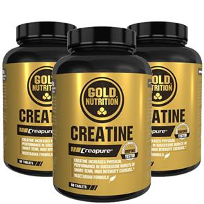 Pack 3 Creatine GoldNutrition Comp.